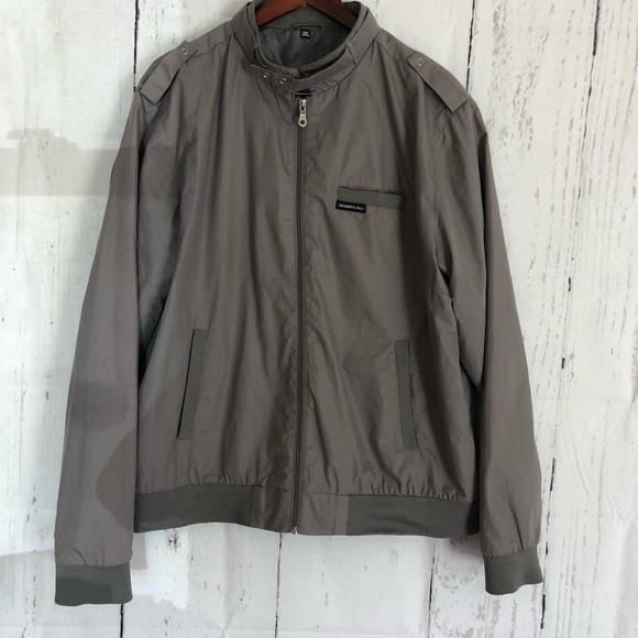 Members Only Jackets Coats Vintage Mens Grey Jacket 2xl Xxl